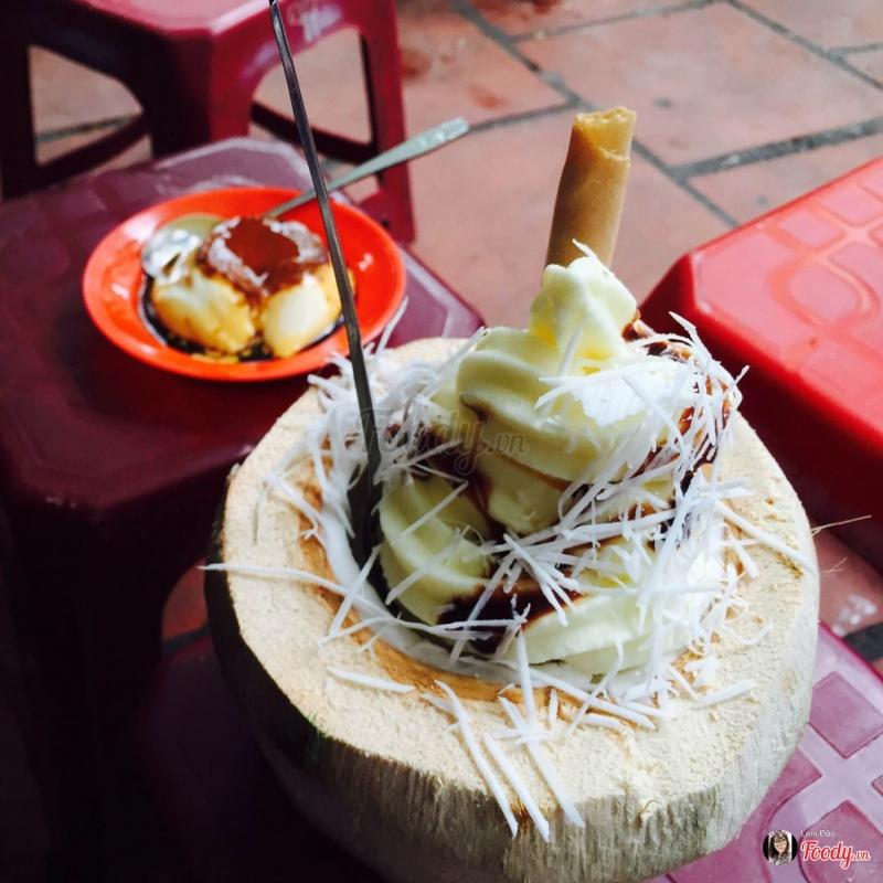 kem dừa Hàng Than