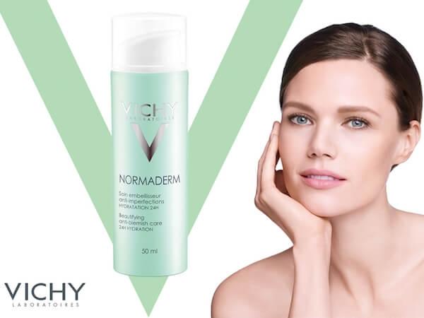 Kem dưỡng Vichy Normaderm Beautifying Anti-blemish Care 24h Hydration là sự lựa chọn hoàn hảo cho những bạn có làn da bóng dầu và bị mụn