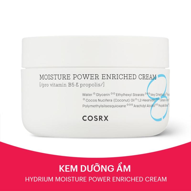 Kem Dưỡng Ẩm Chuyên Sâu Cosrx Hydrium Moisture Power Enriched Cream Keo Ong Cho Da Khô Thô Ráp 50ml