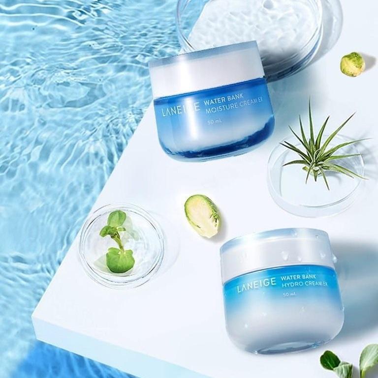 Kem dưỡng ẩm dành cho da thường và da khô Laneige Water Bank Moisture Cream EX