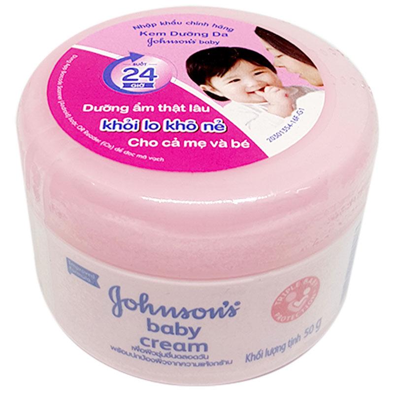 Kem dưỡng ẩm Johnson Baby nắp hồng dùng cho da dầu và da hỗn hợp thiên dầu
