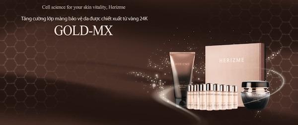Kem dưỡng chiết xuất vàng 24k Herizme Gold-Mx 24k Premium Cream 50ml