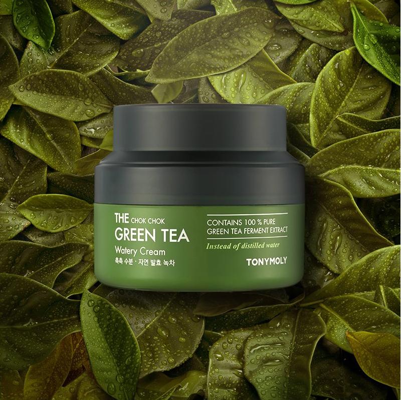 Kem Dưỡng Da Chiết Xuất Trà Xanh TONYMOLY The Chok Chok Green Tea Watery Cream 60ml