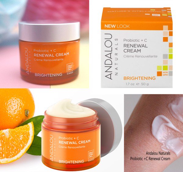 Kem dưỡng làm sáng tái tạo da Andalou Renewal Cream Brightening Probiotic + C
