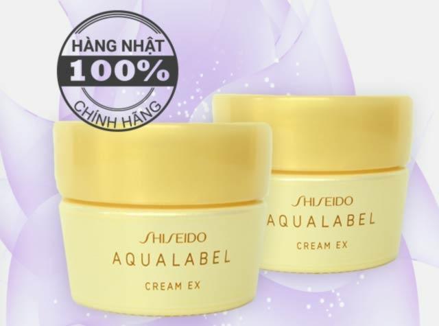 Kem dưỡng Shiseido Aqualabel Cream EX Vàng