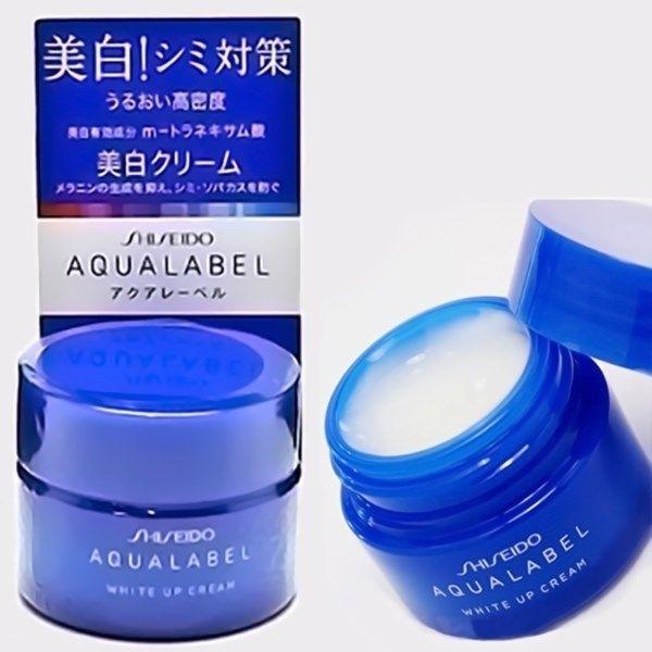 Kem dưỡng Shiseido Aqualabel White up Cream màu xanh