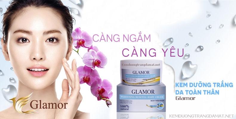 Kem dưỡng trắng da toàn thân Glamor – Whitening Renewal Body Cream cho hiệu quả vượt trội khi sử dụng