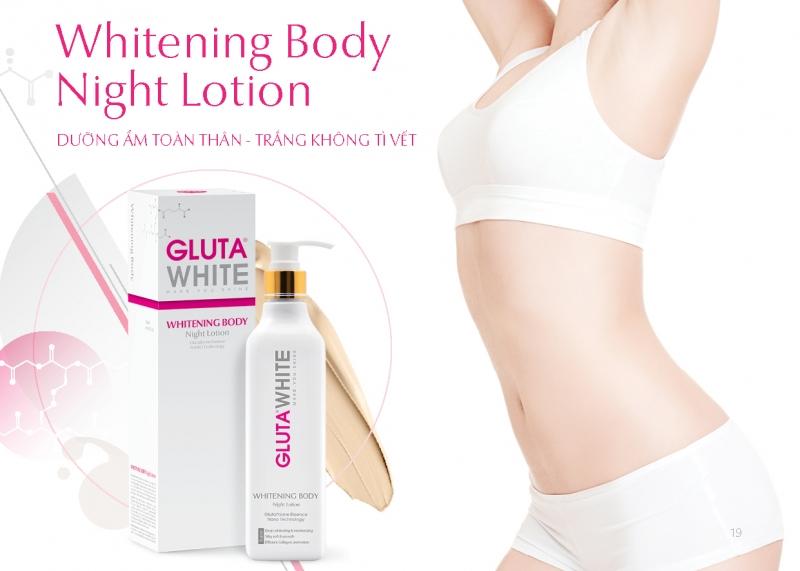 Kem dưỡng trắng da toàn thân Whitening Body Gluta White