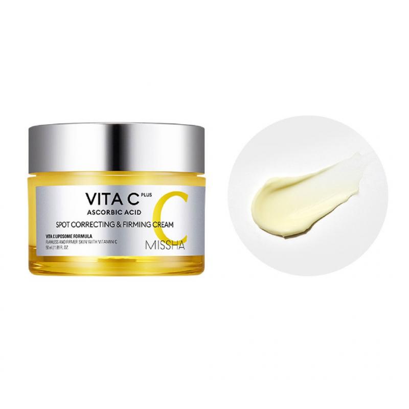 Kem Dưỡng Trắng, Mờ Thâm Nám Missha Vita C Plus Spot Correcting & Firming Cream