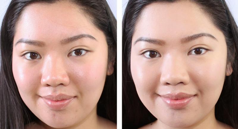 Sự thay đổi của cô gái trước và sau khi dùng sản phẩm