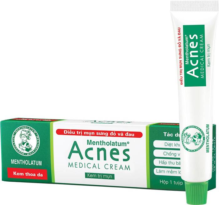 Kem Ngừa Mụn Sưng Đỏ Và Đau Rohto Acnes Medical Cream