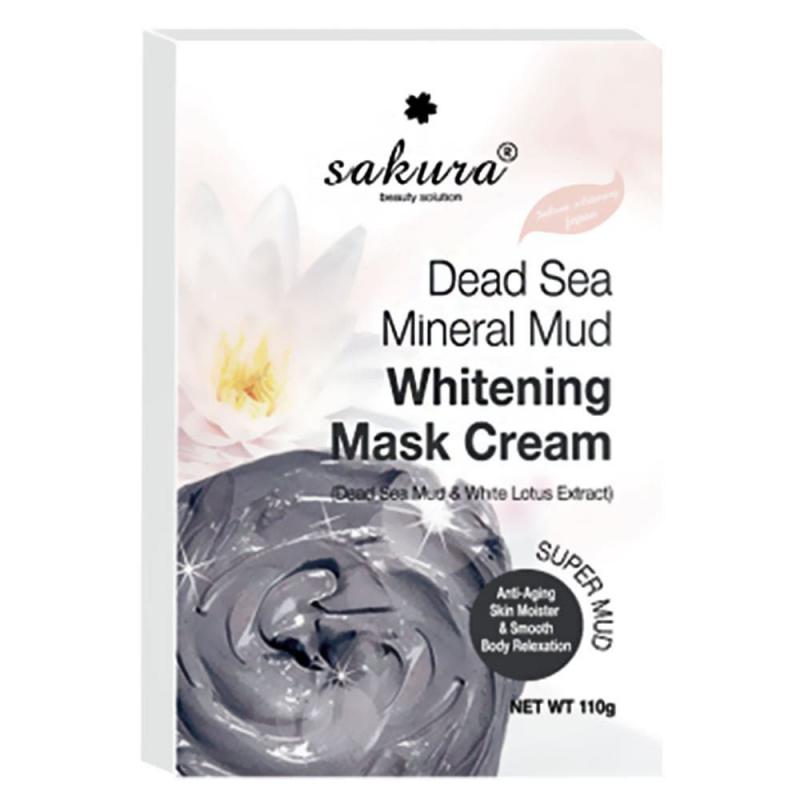 Kem tắm trắng Sakura Dead Sea Mineral Mud Whitening Mask Cream