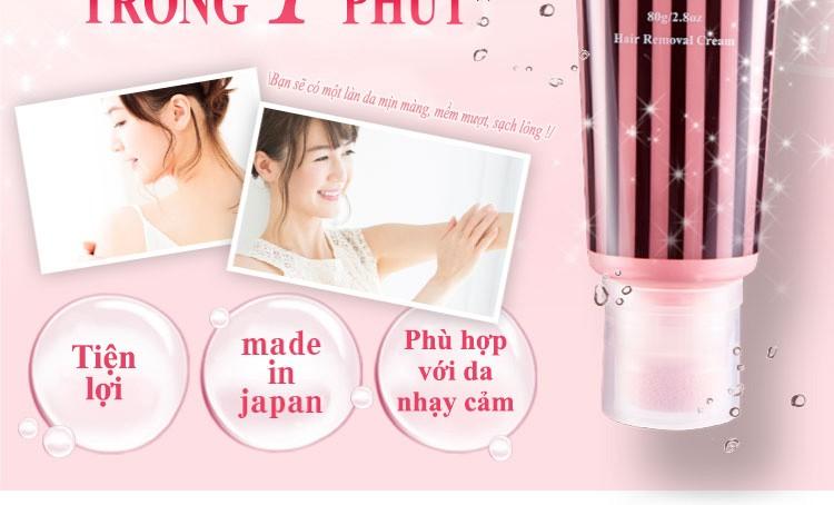 Kem tẩy lông Plume của Nhật Bản