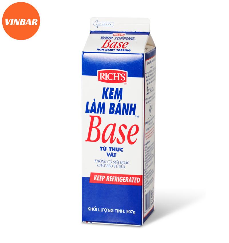 Kem topping Rich's BASE