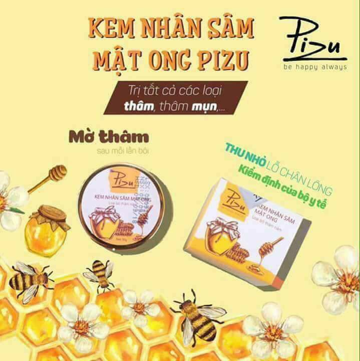 Kem trị thâm nhân sâm mật ong Pizu