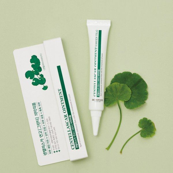 Kem trị thâm Skinfood Centellascar Ointment Green Tea