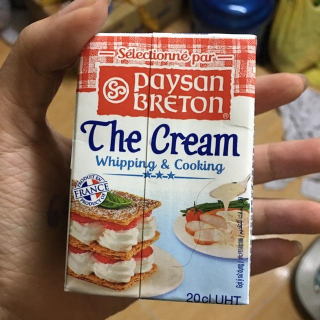 Kem whipping Paysan Breton