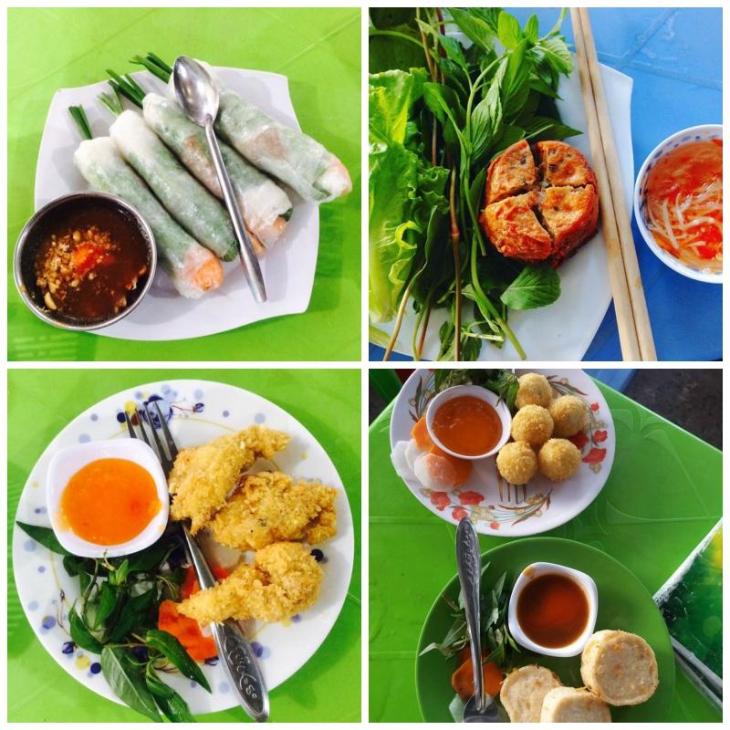 Một vài món ăn trong menu cực kỳ đa dạng của quán.