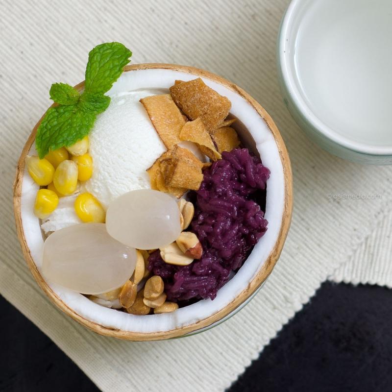 Kem xôi dừa hấp dẫn với đủ hương vị béo - ngọt - thanh (Nguồn: Sưu tầm)
