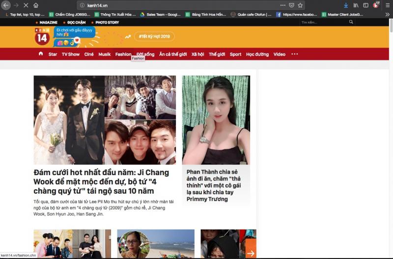 Website kenh14.vn
