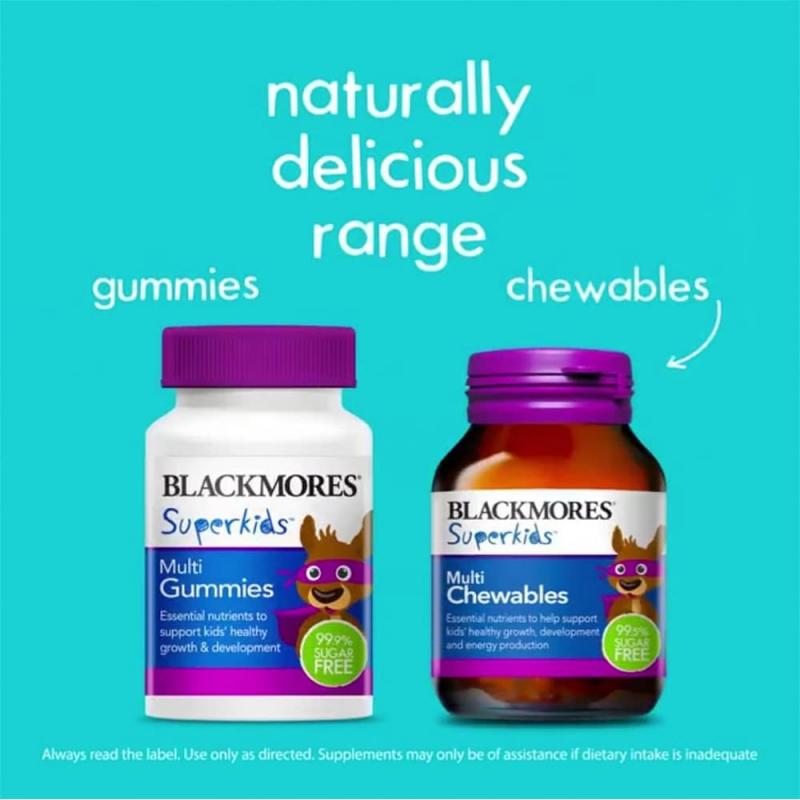 Kẹo bổ đa vitamin cho trẻ em Blackmores SuperKids Multi Gummies 60 viên: