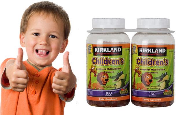 Kẹo bổ đa Vitamin dành cho trẻ em Kirkland Signature Children's Complete Multivitamin 160 viên
