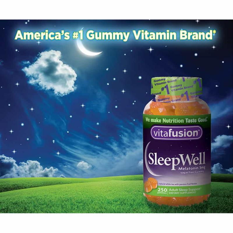 Kẹo bổ giúp ngủ ngon giấc vitafusion SleepWell 250 viên