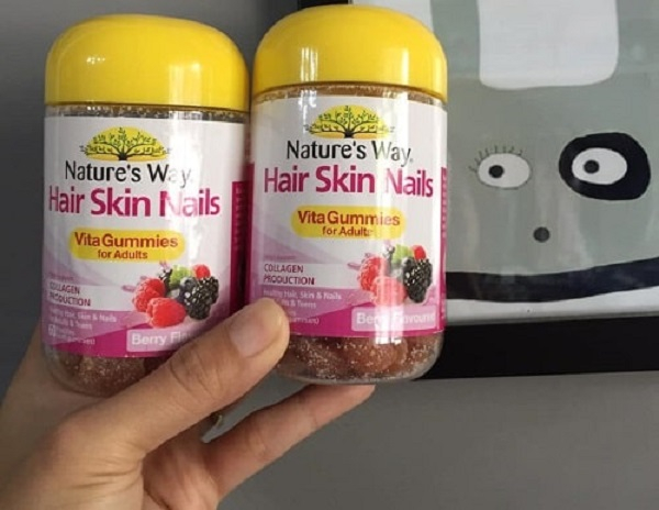 Kẹo bổ sung Vitamin cho da, tóc, móng Nature's Way Hair Skin Nails