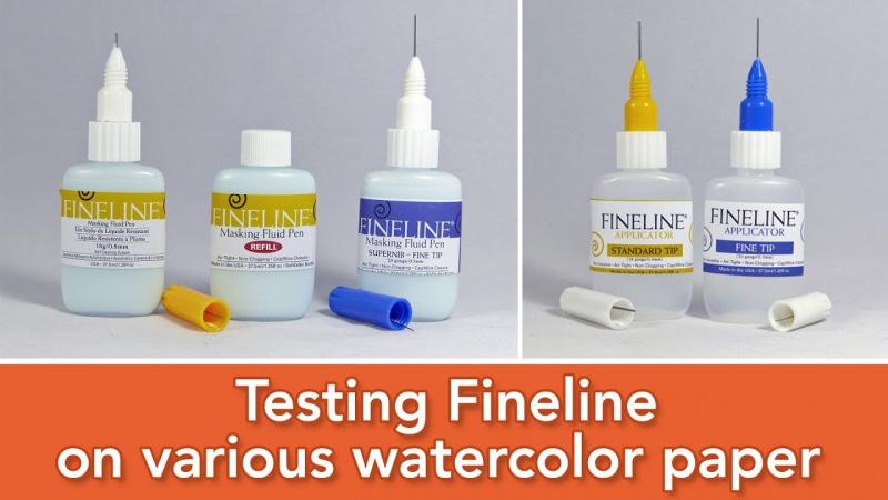Keo chặn màu nước Fineline (USA)