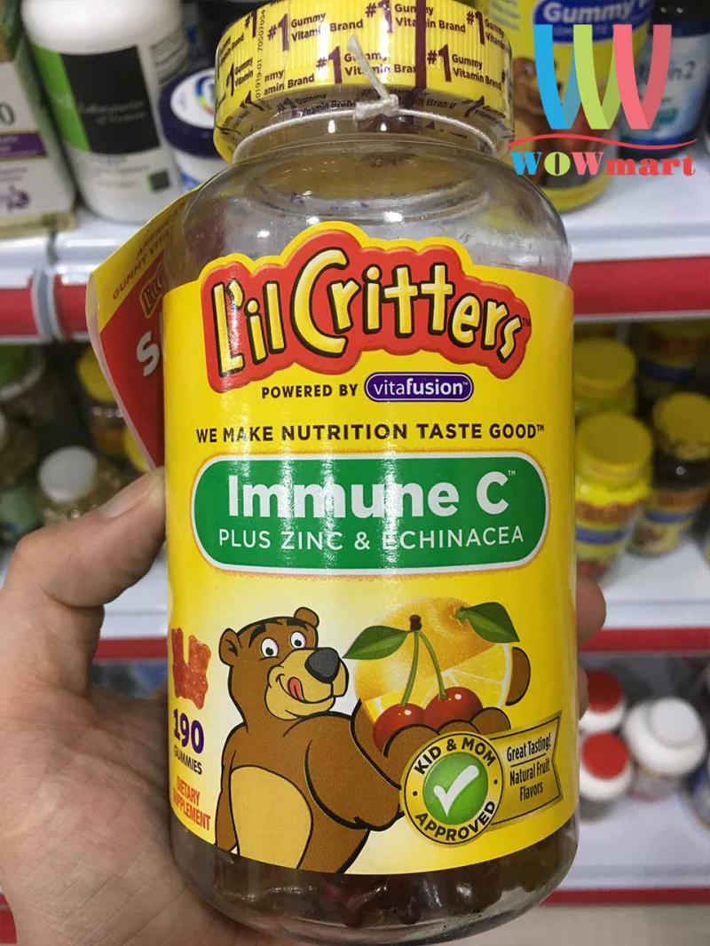 Kẹo bổ L'il Critters Immune C giúp bé tăng sức đề kháng, phòng chống những bệnh cảm cúm, nhiễm khuẩn.
