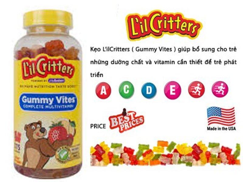 Kẹo Gummy Vites cung cấp cho trẻ các vitamin A, C, D, E, B6, B12… và các khoáng chất axit folic, biotin, iod, kẽm, choline… Giúp trẻ nâng cao hệ miễn dịch, phòng ngừa các bệnh do thiếu vitamin, đồng thời cải thiện chế độ dinh dưỡng của trẻ, giúp trẻ ăn ngon miệng hơn và khỏe mạnh hơn.