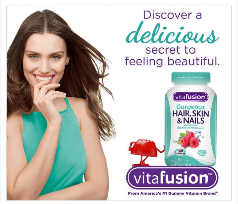 Kẹo dẻo đẹp da móng tóc Vitafusion Gorgeous Hair, Skin & Nails