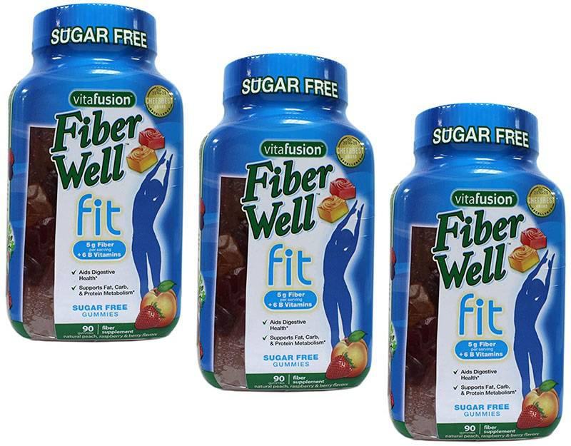 Kẹo Dẻo Giảm Cân Vitafusion Fiber Well Fit Gummies (90 viên)