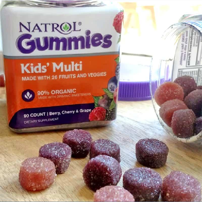 Kẹo dẻo Multi Natrol Gummies Kids cung cấp hàm lượng vi khoáng cần thiết mỗi ngày qua 3 viên kẹo dẻo hương vị trái cây thơm ngon