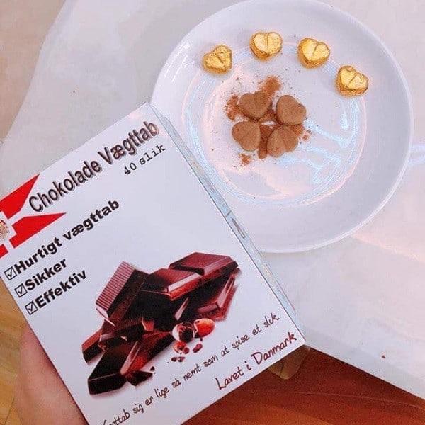 Kẹo giảm cân chokolade vægttab