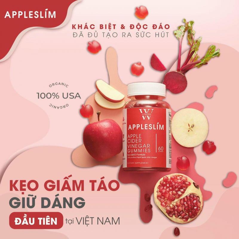 Kẹo giấm táo hỗ trợ giữ dáng AppleSlim