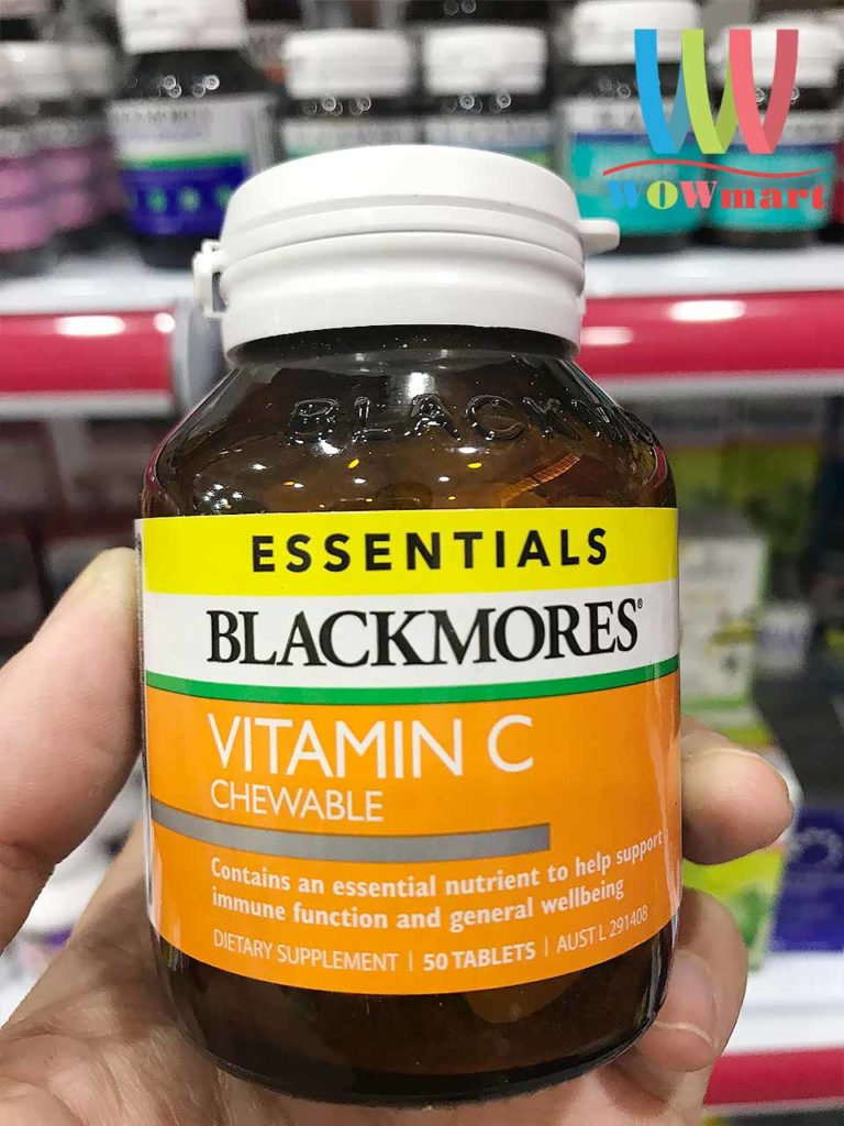 Kẹo Vitamin C Blackmores Essentials Vitamin C Chewable 50 viên: