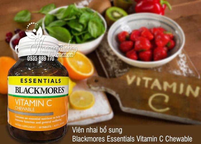 Viên nhai Vitamin C Blackmores Essentials này không có chất tạo ngọt nên phù hợp kể cả cho người ăn kiêng, người bệnh tiểu đường, người sợ sâu răng…