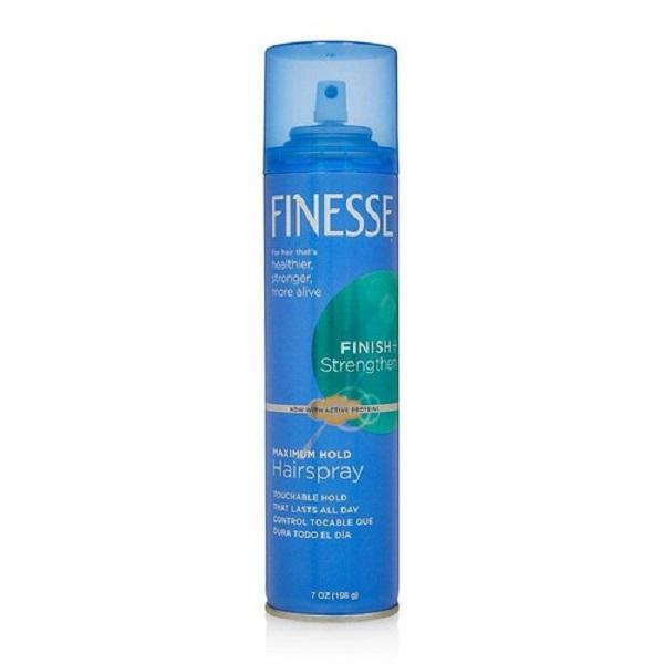 Keo xịt tóc giữ nếp mạnh tối đa Finesse Maximum Hold Aerosol Hairspray 198g