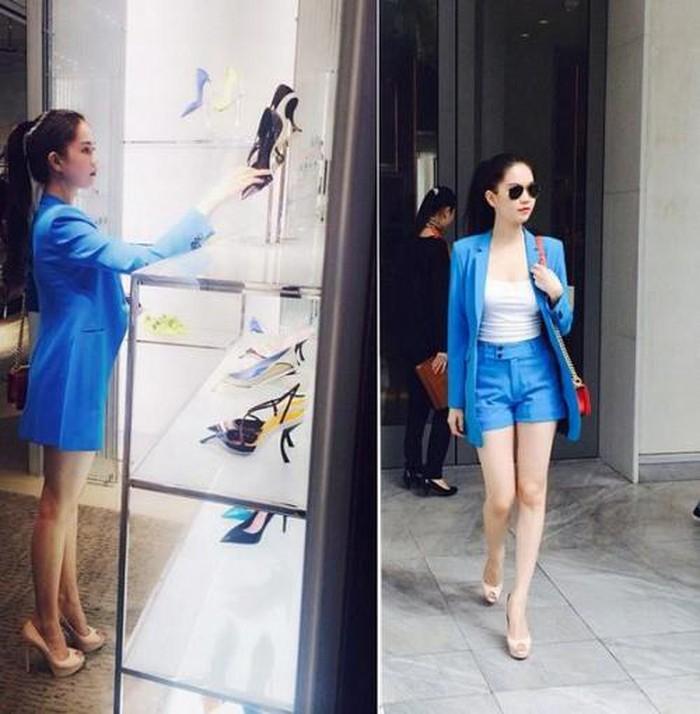 Chiếc áo vest cách điệu và quần jean ngắn thể hiện sự cá tính của người mặc.