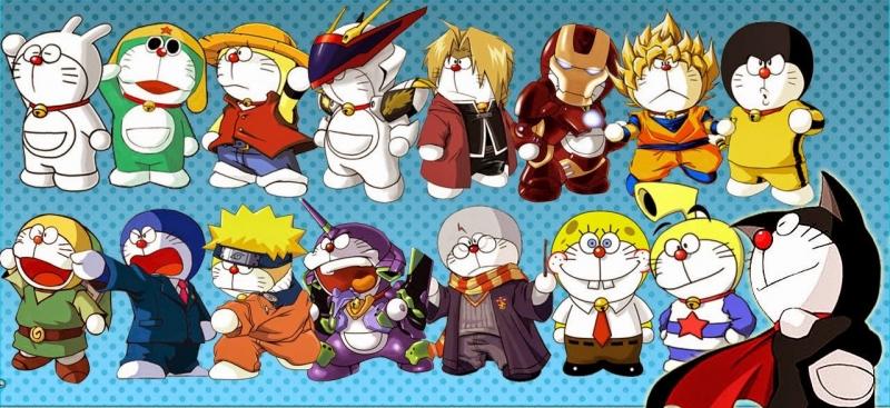 Hàng loạt phiên bản của Doraemon được fan sáng tác