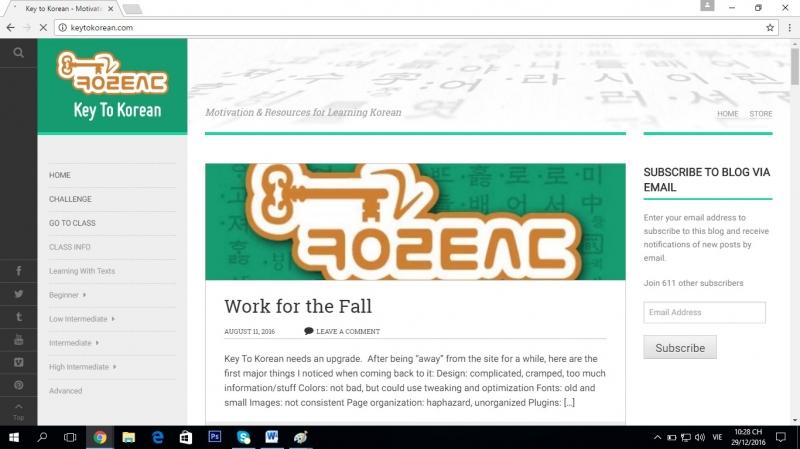 Giao diện của trang web.