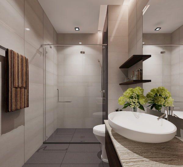 Phòng tắm khách sạn hiện đại đầy đủ tiện nghi