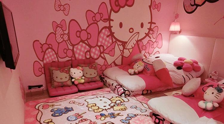 Các phòng đều được thiết kế vô cùng đáng yêu và độc đáo từ chủ đề Hello Kitty