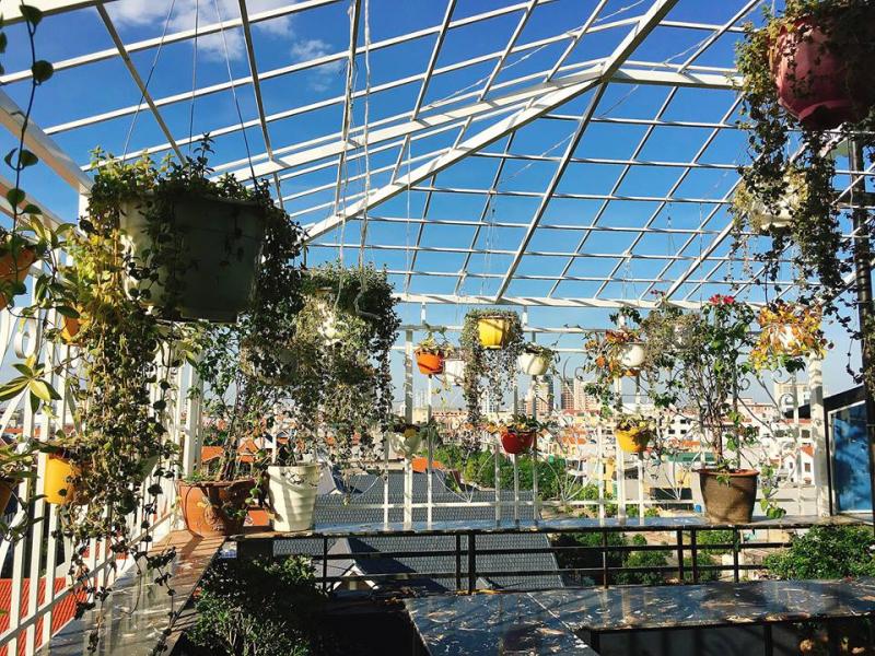 View tầng thượng của khách sạn Golden Thái Bình