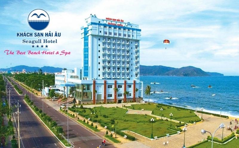 Khách sạn Hải Âu Quy Nhơn tọa lạc bên bờ biển trung tâm TP. Quy Nhơn