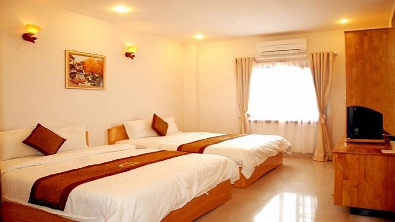 Không gian bên trong phòng của khách sạn Hải Châu