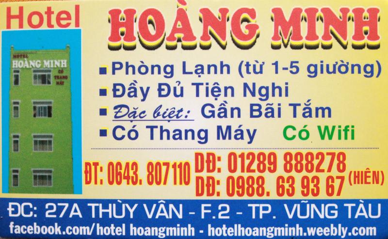 Dịch vụ tại khách sạn Hoàng Minh