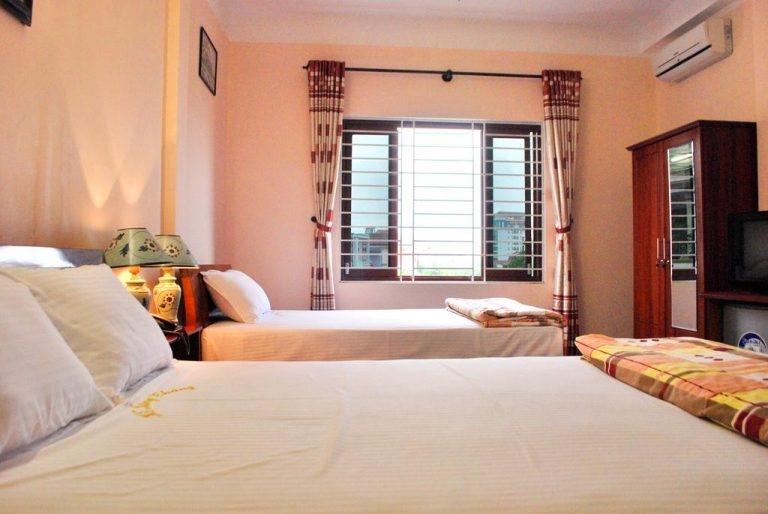Phòng ngủ tại khách sạn Hồng Thăng