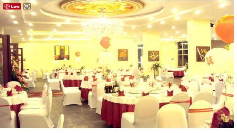 Phòng tiệc cưới của khách sạ Hữu Nghị với cơ sở vật chất hiện đại